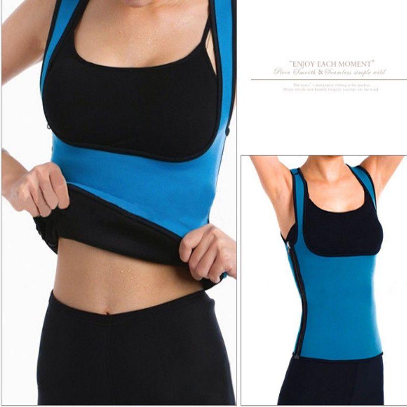 423e49649e Size L Womens Sport Slim Neoprene Sauna Sweat Shaper Side Zipper Vest Corset   fashion