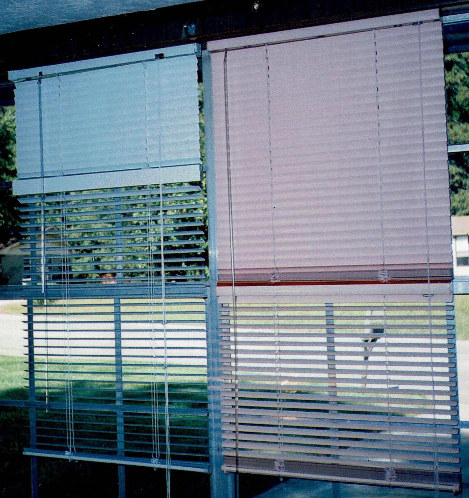 Outside window treatment ideas  custommade window treatment double window blind view of outside