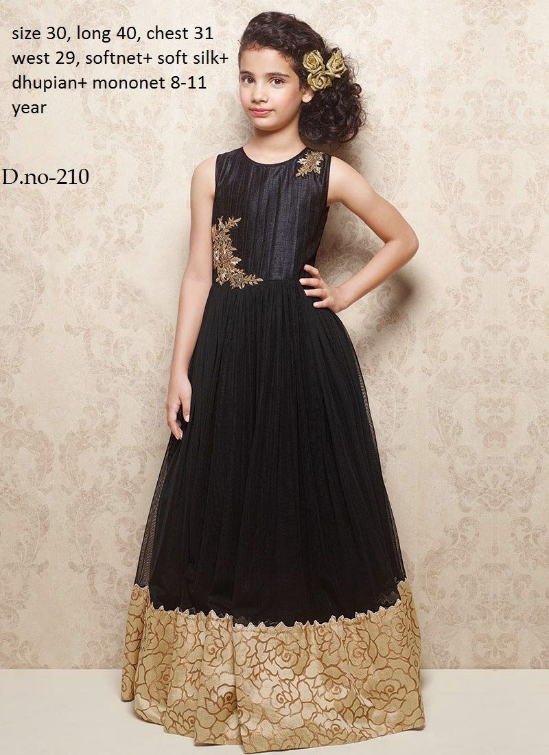 4f919cc6592f Readymade Black Soft Net Kids Gown in 2019