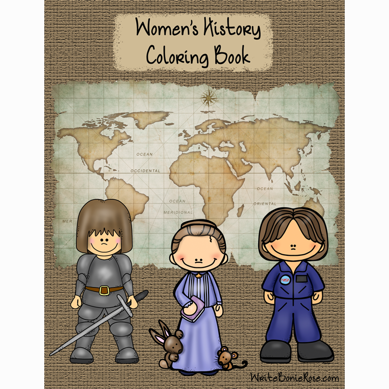 Check out this great product from WriteBonnieRose.com! From Joan of Arc to Queen Elizabeth II, Beatrix Potter to Sally Ride, these women left their mark on history and changed the future. Introduce your little ones to Pocahontas, Betsy Ross, Martha Washington, Mary Todd Lincoln, Harriet Tubman, Marie Curie, Amelia Earhart, Eleanor Roosevelt, Rosa Parks, Dian Fossey, Margaret Thatcher, Mother Teresa, Laura Numeroff, Jan Brett, and Princess Diana.