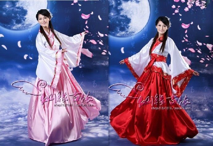 Beautiful Chinese Ancient Fairy Princess Dramaturgic Show Costume Robe Dress