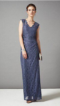 Blue Rose Embellished Maxi Dress Bridesmaid Dresses