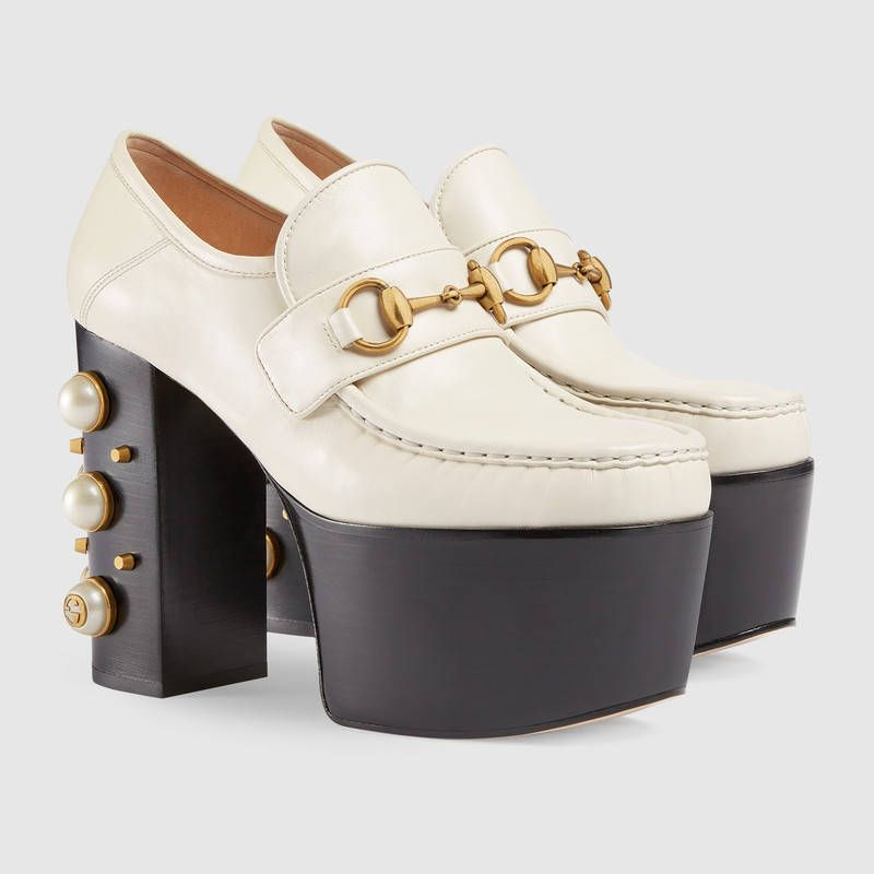 fb7bbd73834 Studded leather Horsebit loafers