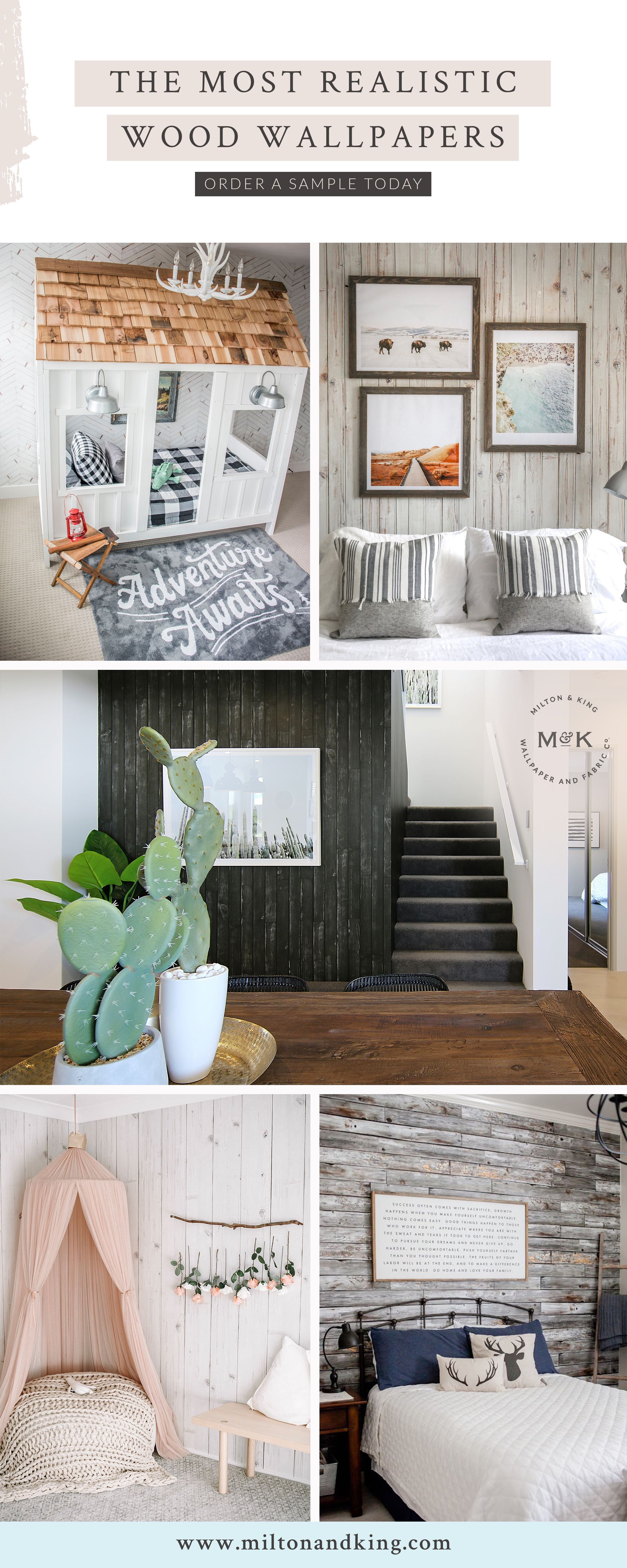 A Realistic Wood Wallpaper Can Add A Range Of Character