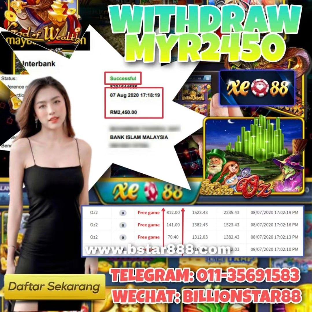 WITHDRAW RM2450 SIGN UP NOW! Welcome Bonus 30% - 50% Telegram: 011-35691583 Wechat: billionstar88…