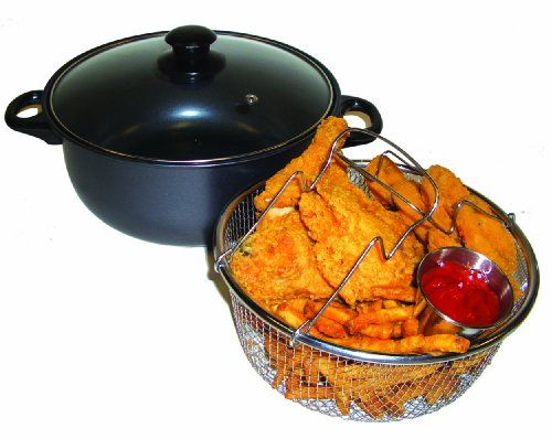 Excelsteel 4 Quart Carbon Steel Non Stick All in One Deep Fryer and Dutch Oven - http://cookware.everythingreviews.net/9115/excelsteel-4-quart-carbon-steel-non-stick-all-in-one-deep-fryer-and-dutch-oven.html