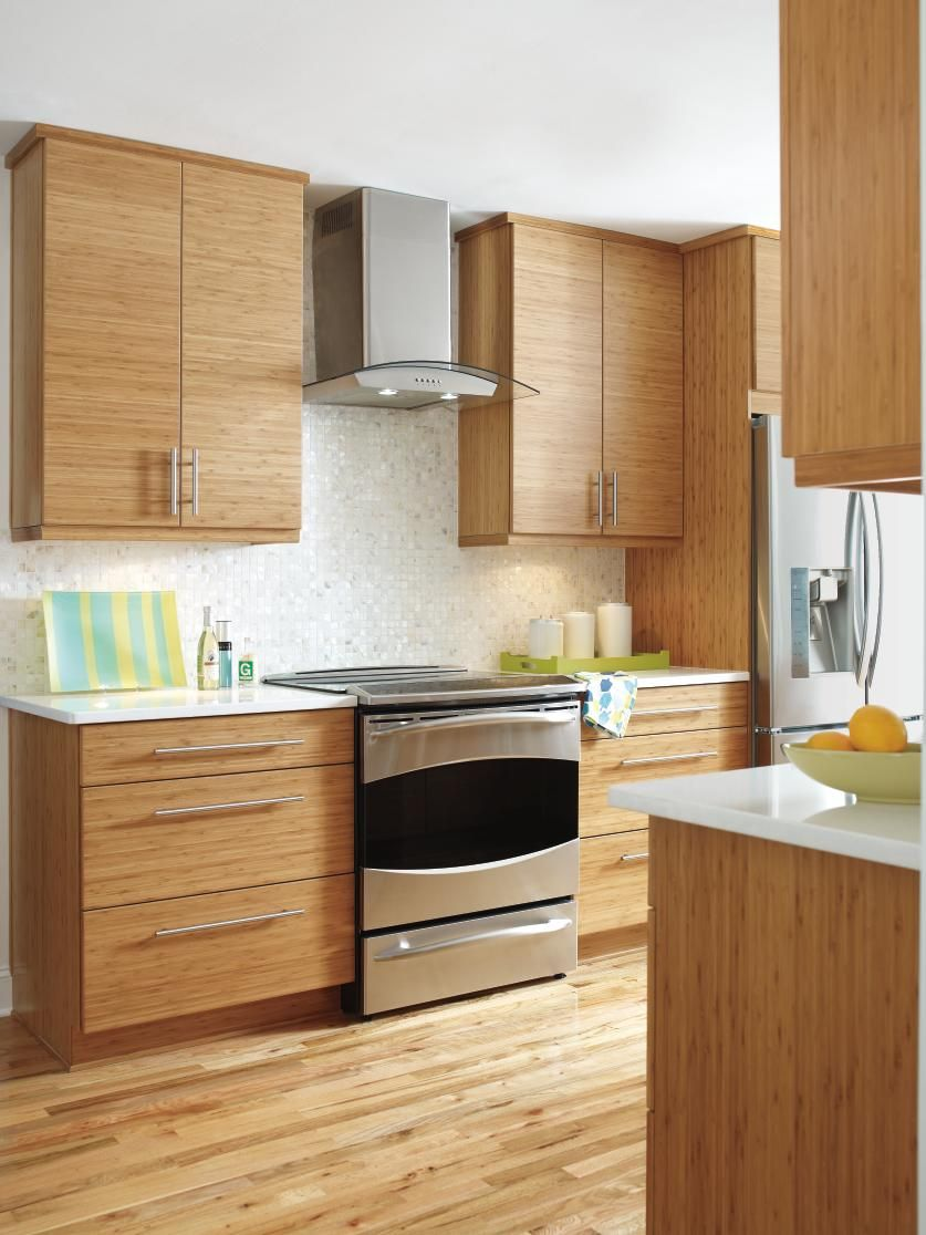 bamboo kitchen cabinets double sink the clean lines and modern look of craft s summit horizontal allows beauty natural light new open floor plan to