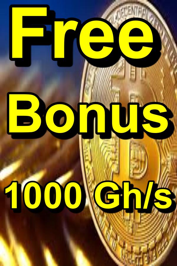 New Bitcoin Cloud Mining Free Bonus 1000 Gh S Cloud Mining Bitcoin Mining Company