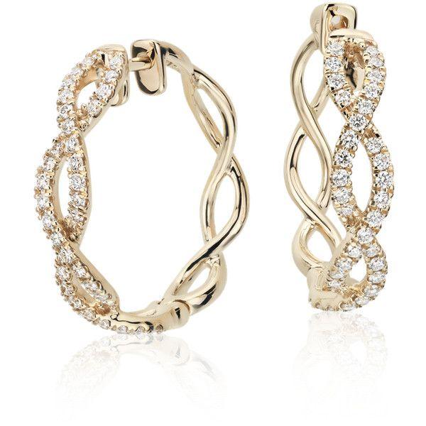 9093c8ad67ecf Colin Cowie Colin Cowie Eternal Twist Diamond Hoop Earrings ($1,300 ...