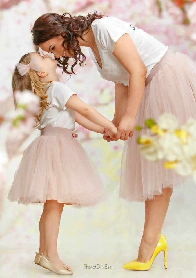 Set Mama Fiica Libelule Bayo Flower Girl Dresses Girl Fashion Tulle Skirt