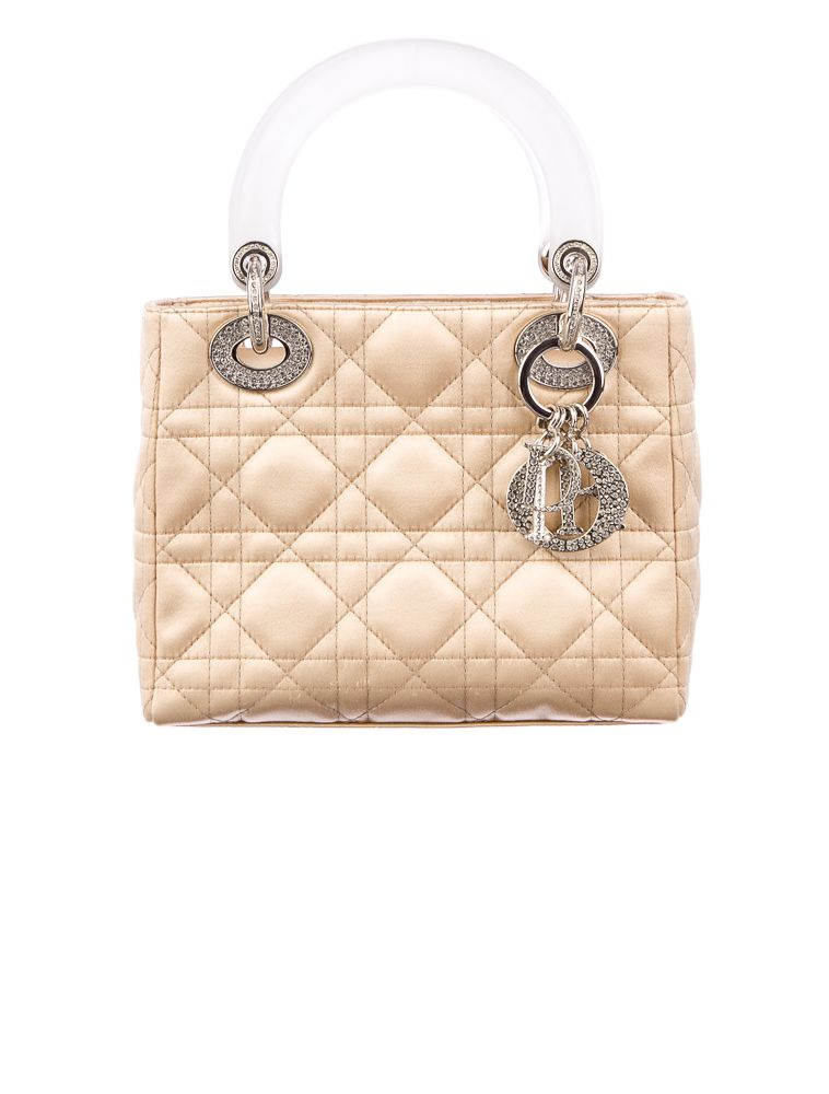 Christian Dior Satin Mini Lady Dior.  ded2fc6c71a4a