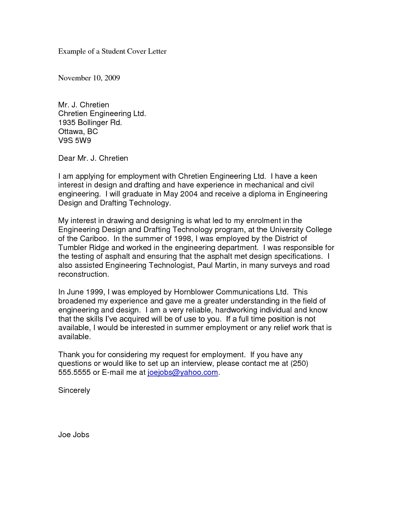 27 Resume And Cover Letter Examples Cover Letter For Resume Engineering Lettering Student Resume Template
