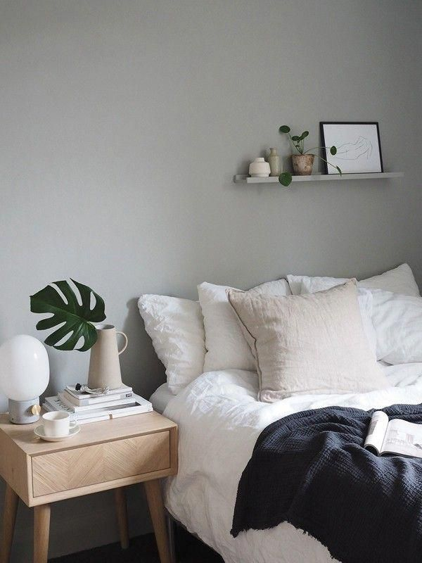 SheerLuxe Scandi Style Home Tour | sheerluxe.com #grayBedroom #graybedroomwithpopofcolor