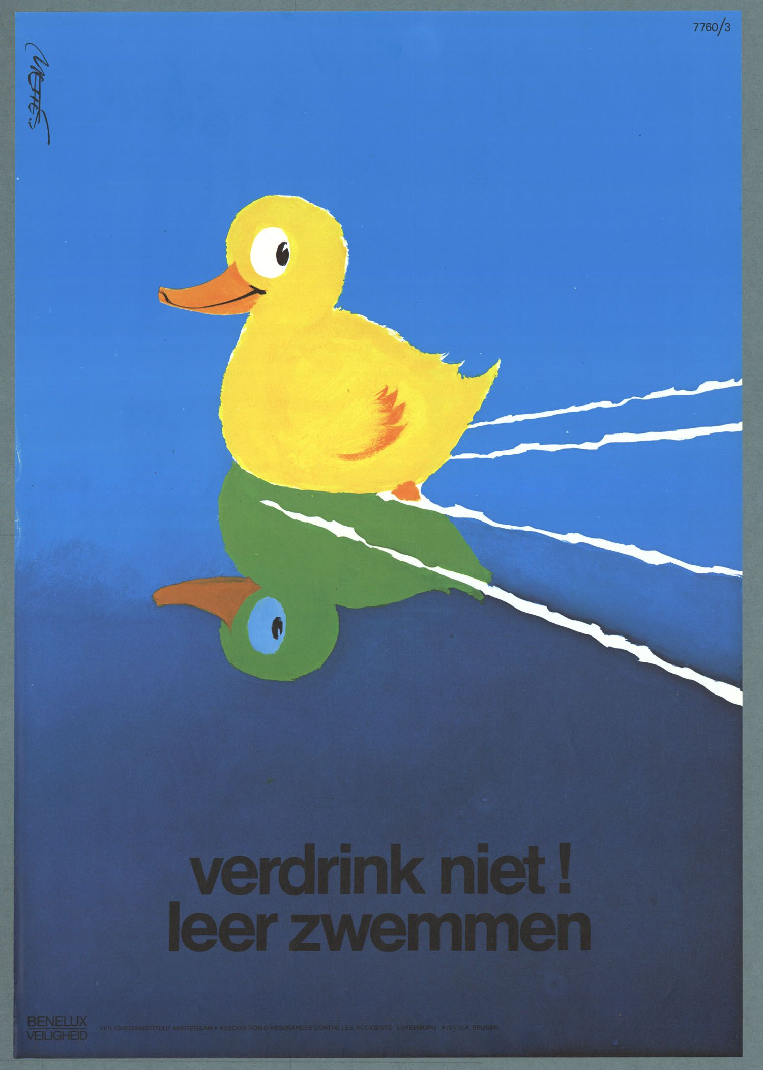Don T Drown Learn To Swim Dutch Health And Safety Poster