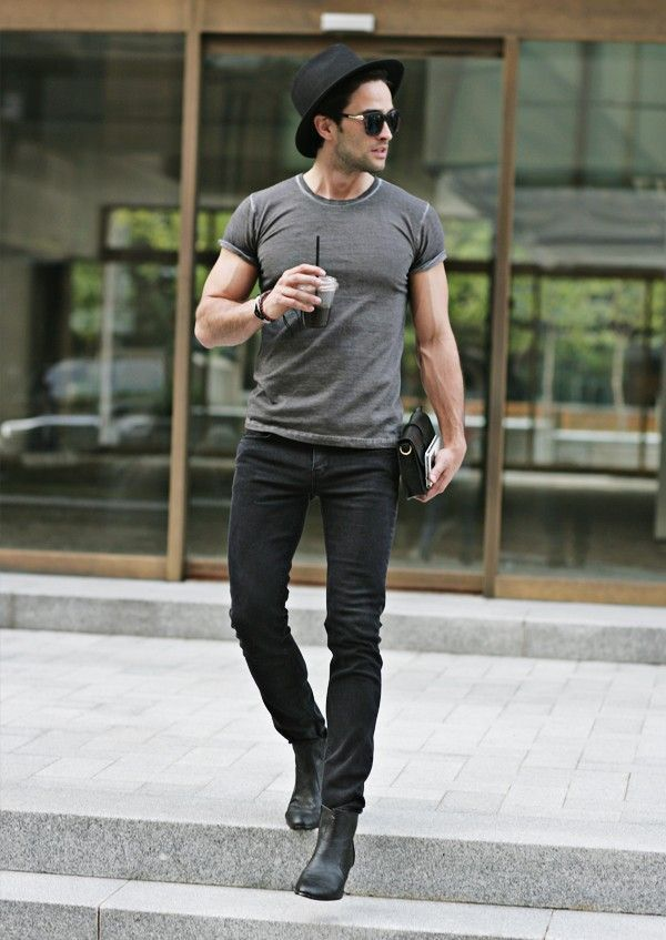 1000  images about men&39s black jeans on Pinterest | Men street