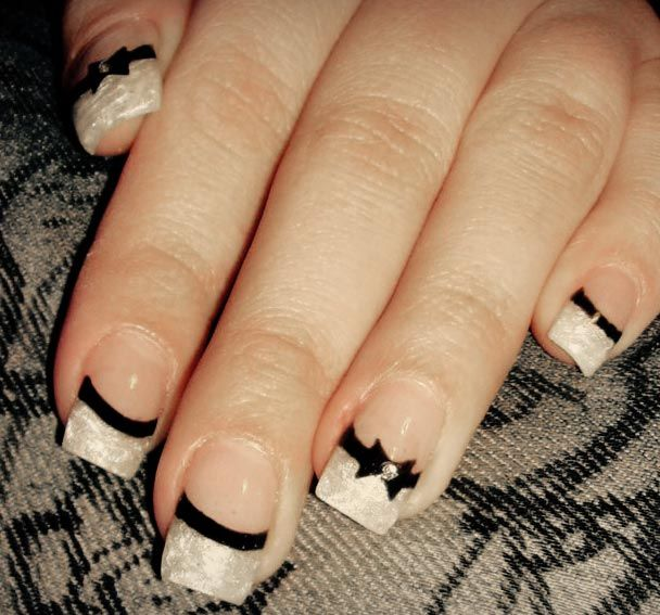 Fancy french nails beauty the beast and everything between fancy french nails prinsesfo Choice Image