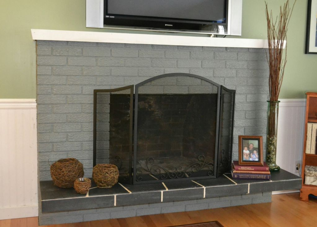Ideas brick fireplace update 8642 brick fireplace for Design makeover