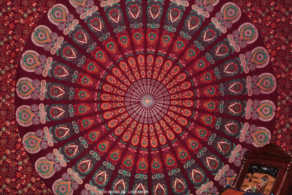 Indian Wall Tapestry View more Indian & Mandala Tapestries at http://www.shilimukh.com/product-category/tapestry-bedsheets