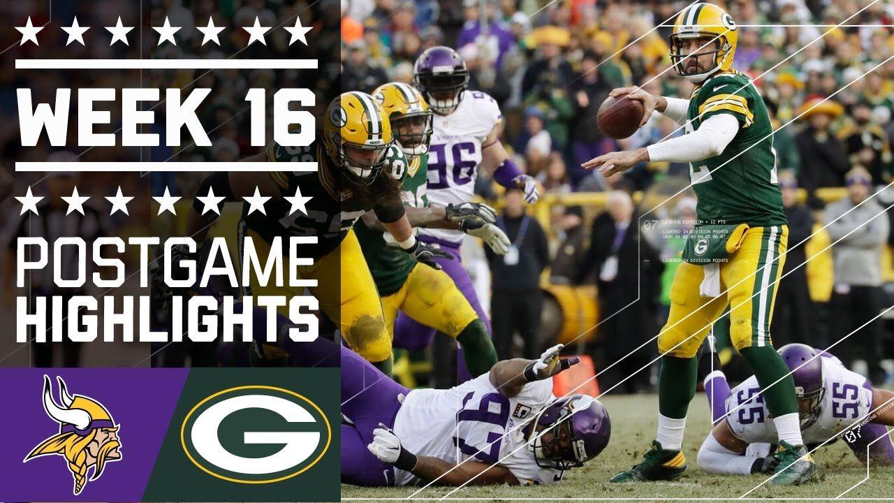 Vikings Vs Packers Nfl Week 16 Game Highlights Nfl Week Nfl Packers Packers