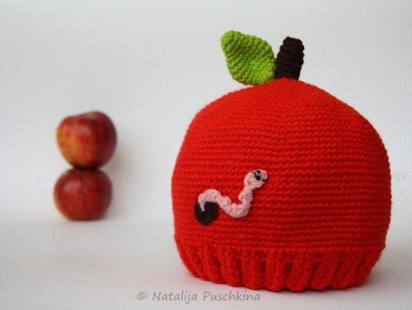 Apfelmütze Mitohne Wurm Selber Häkeln Pdf Mützen Pinterest