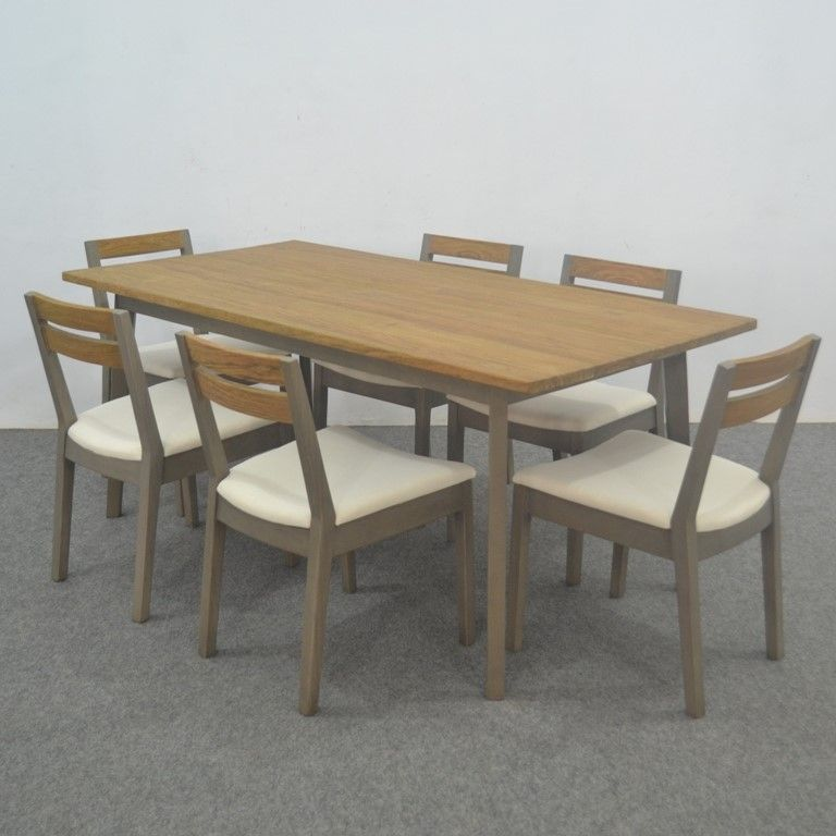 Six Seater Modern Simple Dining Room Table Metro