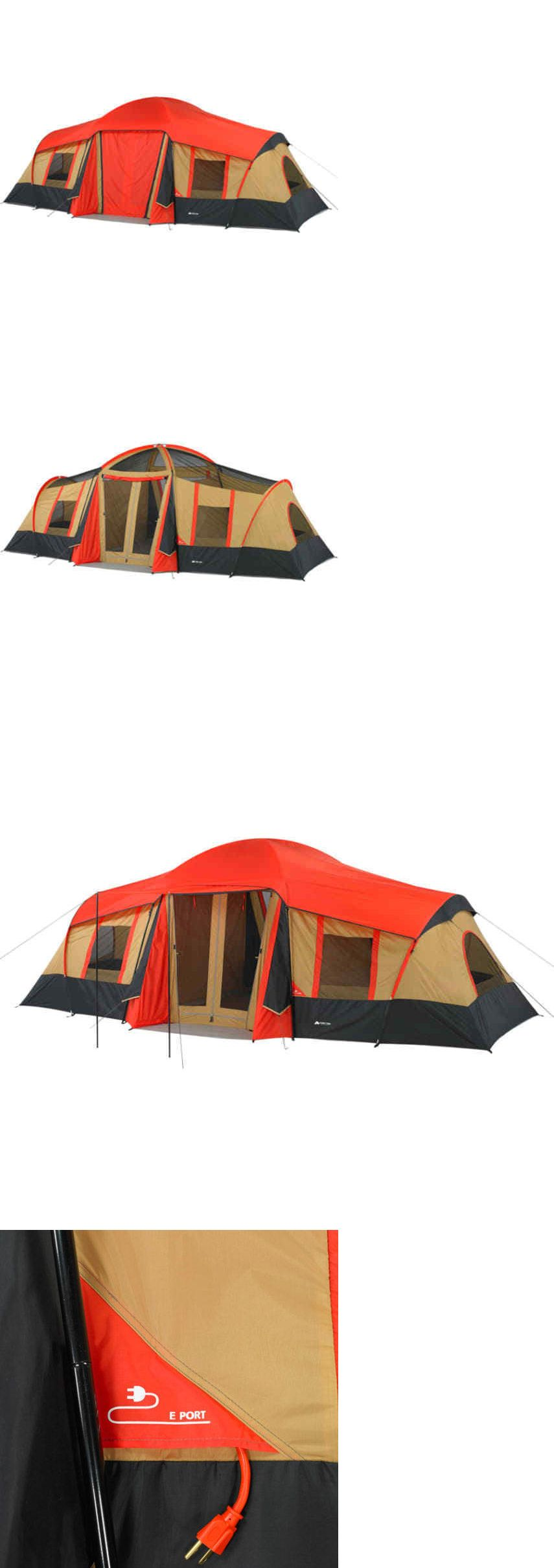 f7f19917e8 Tente 10-Person 3-Room Vacation Tent Ozark Trail with Built-In Mud Mat  Shade Awning