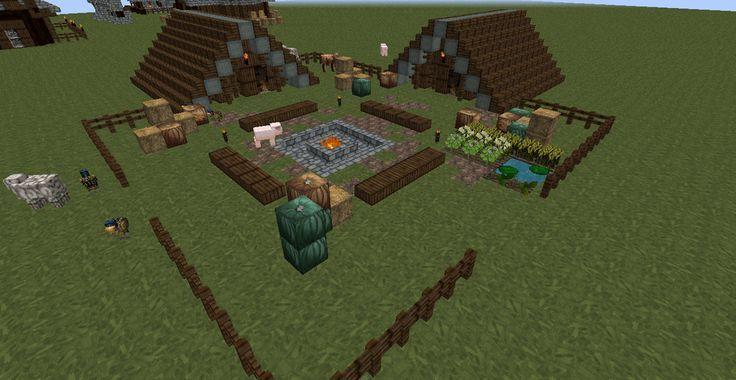Minecraft Campsite Ideas Google Search Minecraft Fire Pit Area