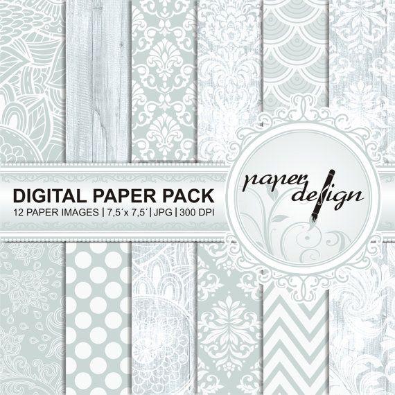 Digital Paper Pack digital Background blau Printable von Stilboxx