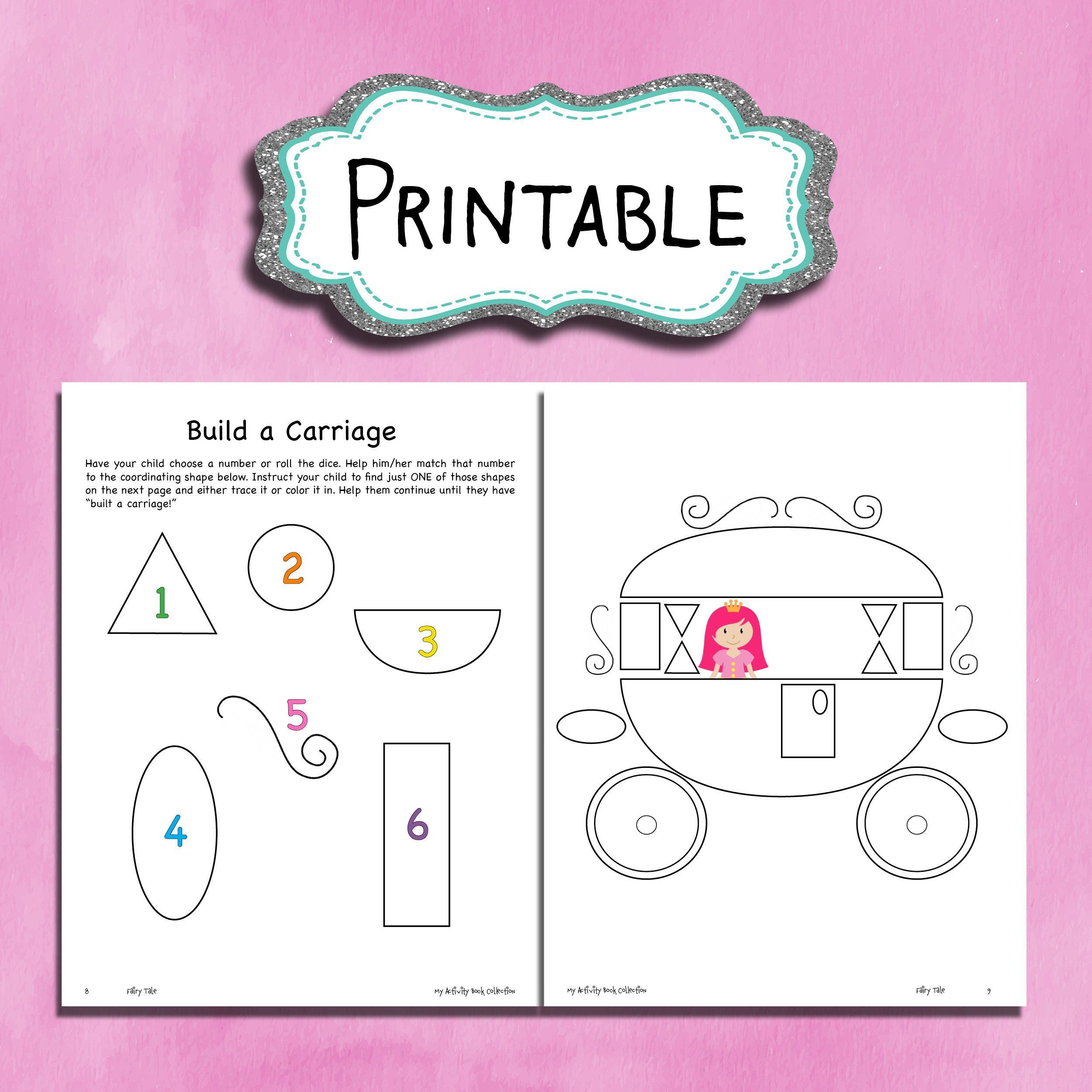 Build A Carriage Printable Worksheet For Kids Princess