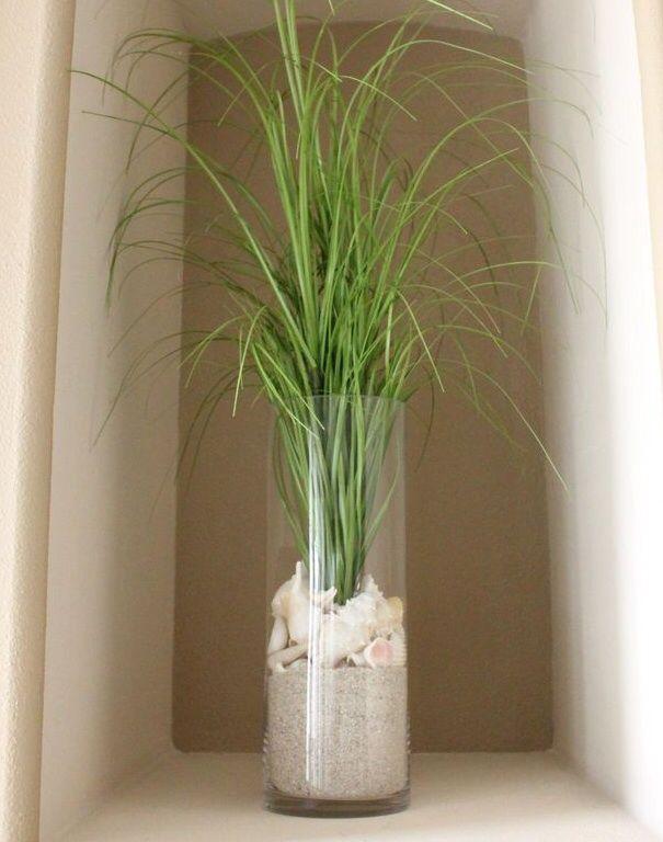 shells in vase happiness is gardening pinterest gartenparty terrasse und deko. Black Bedroom Furniture Sets. Home Design Ideas