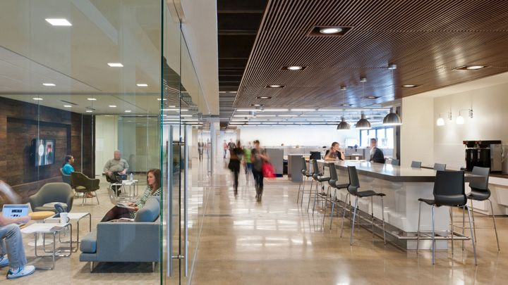 Fossil headquarters by corgan associates richardson texas office design