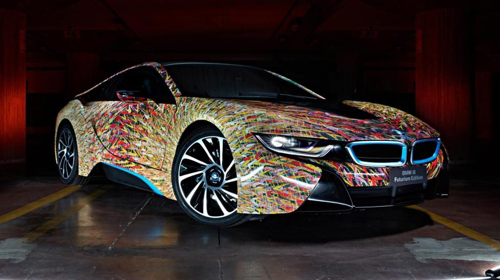 Разноцветная BMW i8   Автомобиль, Автомобили, Ателье