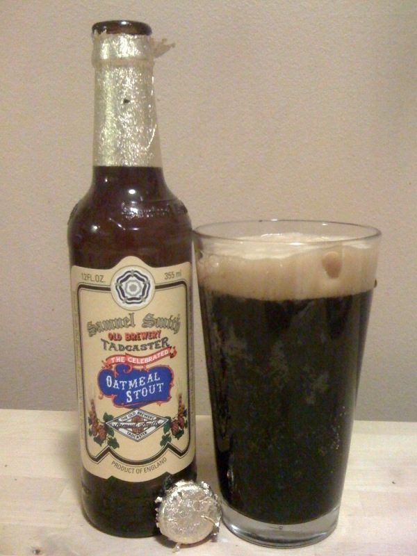 Samuel Smith's Oatmeal Stout - dark, creamy, chocolate flavors, clean finish for such a dark beer, 5% ABV. My rating - 8.4