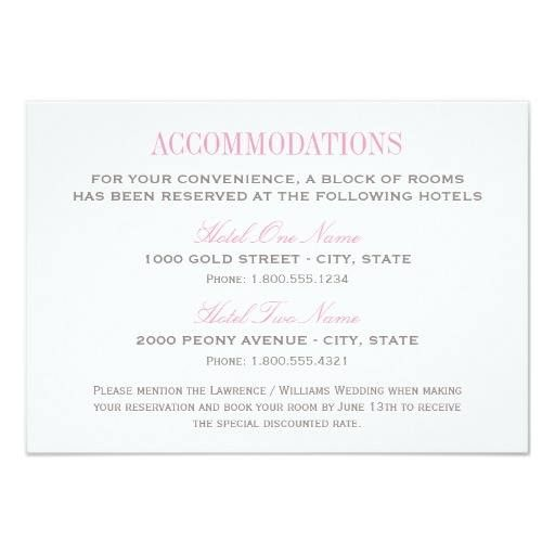 Wedding Invitation Accommodation Insert Wording: Pin By Shannon Toner On Bridal Party!!!