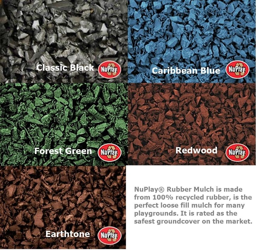 Rubber Mulch Nuggets Nuplay Rubber Mulch Mulch Commercial Landscaping