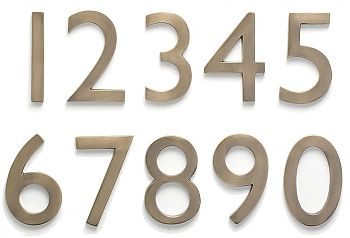 Architectural Mailboxes Antique Solid Brass Floating Address Numbers 4 Or 5 Architectural Mailboxes House Numbers Copper House