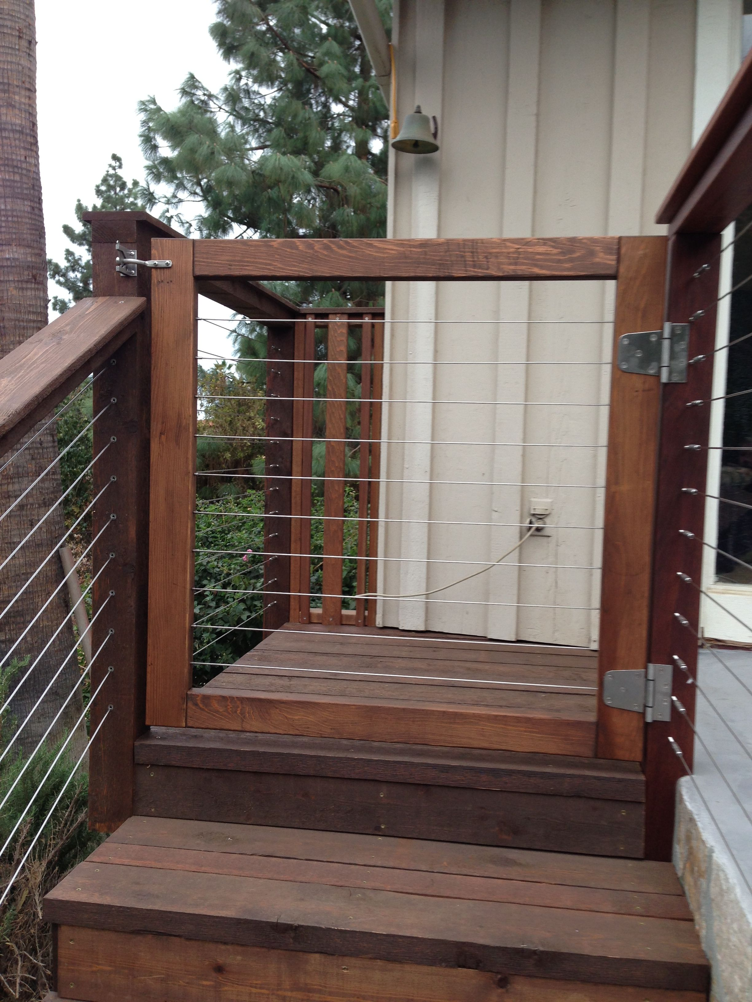Stainless Steel Cable Gates Outdoor Living Pinte