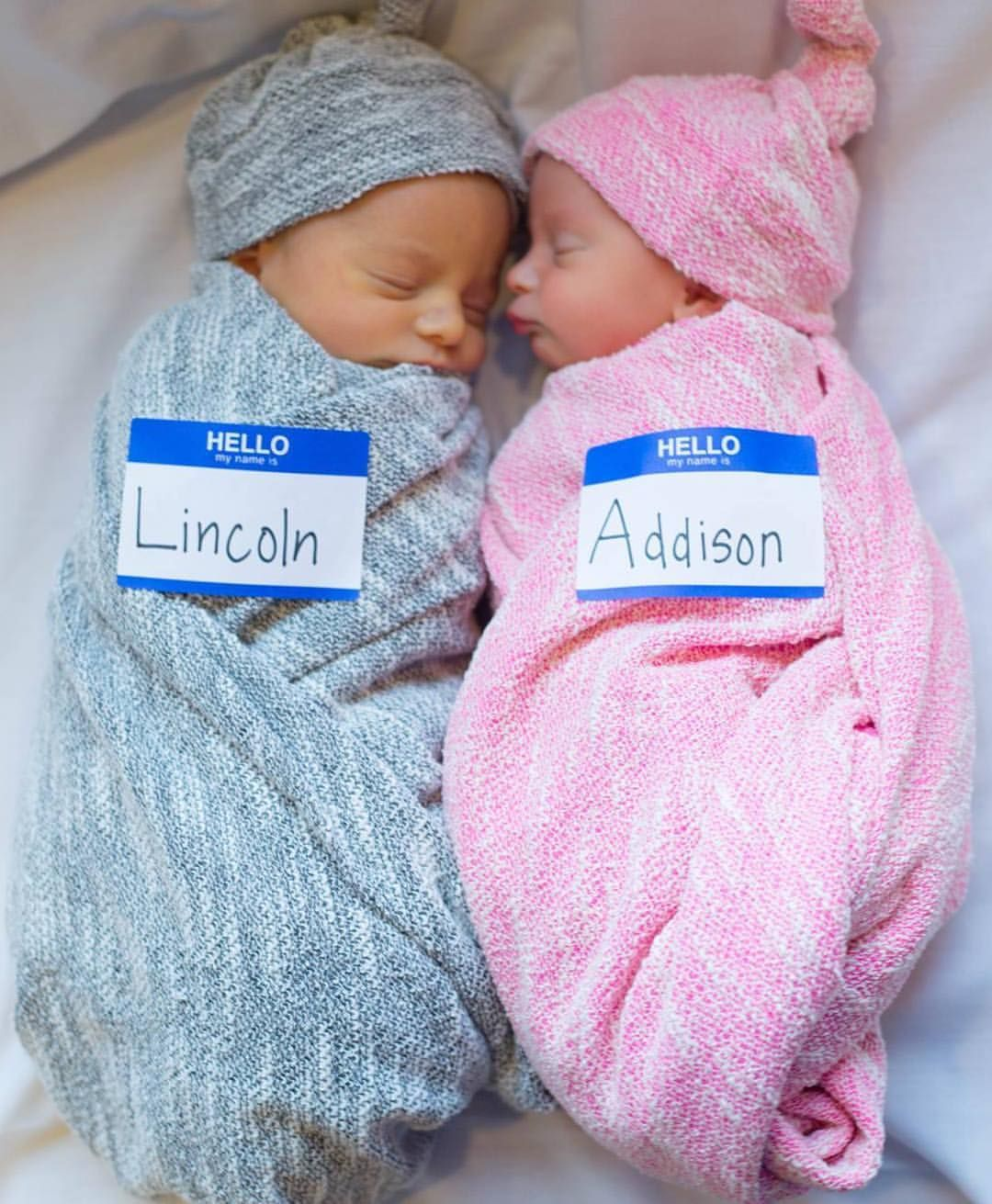 Twin life. Boy and girl swaddles at kbcute.com  7418bce1466d