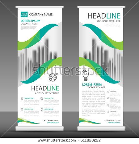 Roll up business brochure flyer banner design, advertisement - advertisement brochure