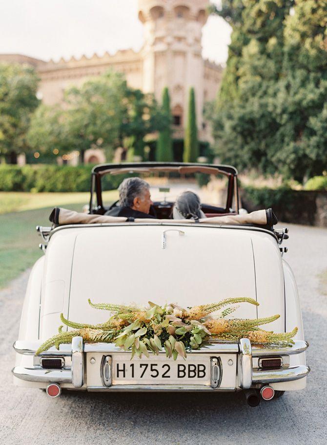 Elegant Barcelona Destination Castle Wedding - Once Wed   Cars ...