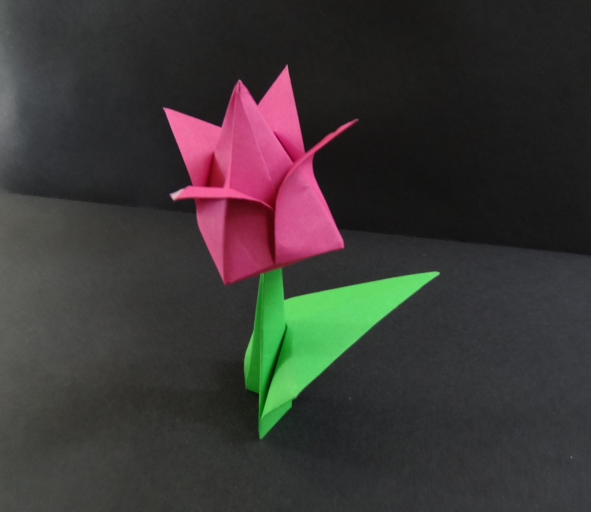 Origami flower tutorial how to fold a tulip flower origami origami flower tutorial how to fold a tulip flower dhlflorist Image collections