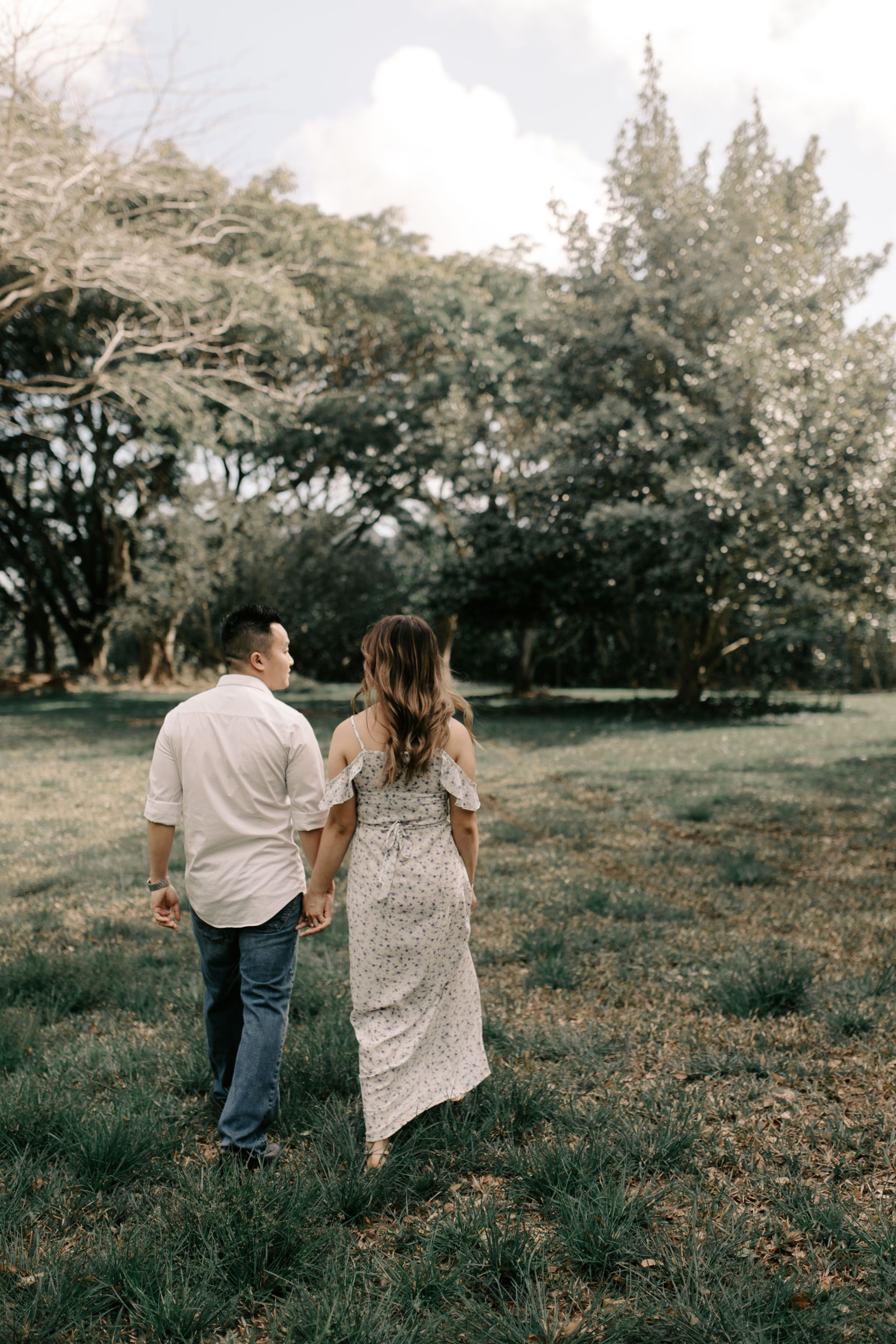 Hoomaluhia Botanical Gardens Engagements Hawaii Wedding