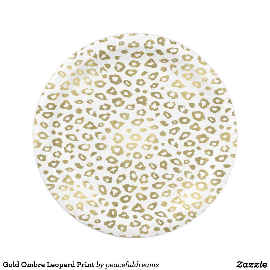 Shop Gold Ombre Leopard Print Paper Plate created by peacefuldreams.  sc 1 st  Pinterest & Gold Ombre Leopard Print 7 Inch Paper Plate | Plates | Pinterest | Ombre