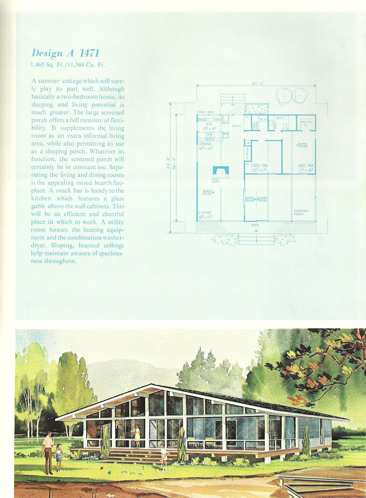 Vintage Vacation House Plans, 1960s vacation homes | Vintage ... on raised cottage house plans, texas ranch style home plans, raised house plans southern, coastal raised house plans, raised house floor plans,