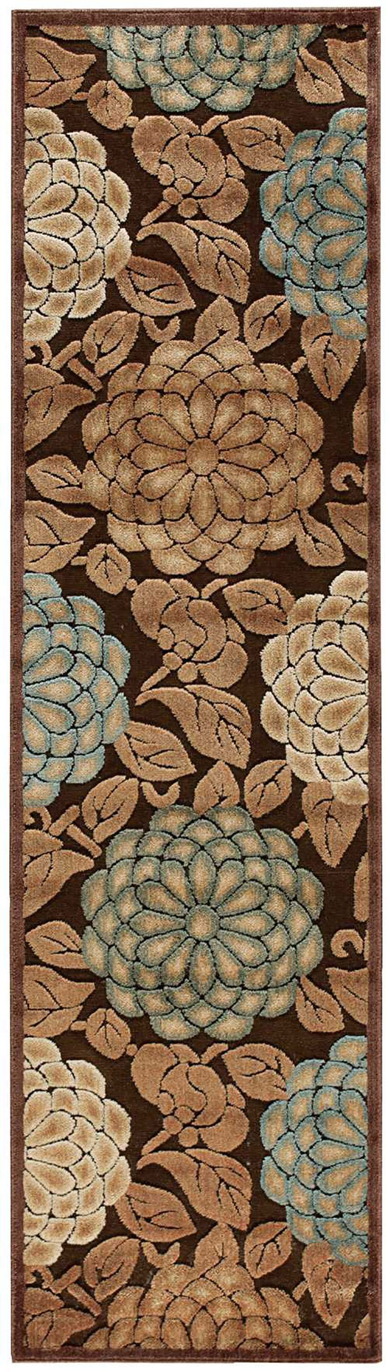 Nourison Graphic Illusions Collection Gil13 2'3 X 8' Runner, Brown