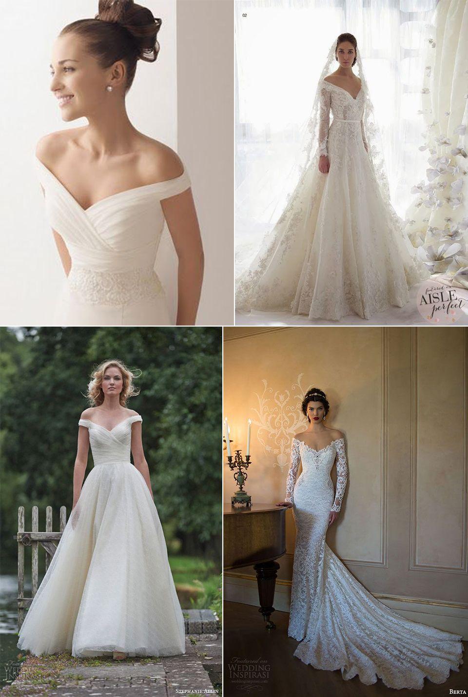 0e3b3d0f60 Vestidos de noiva ombro a ombro