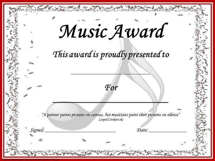 music awards editable music award certificates music on