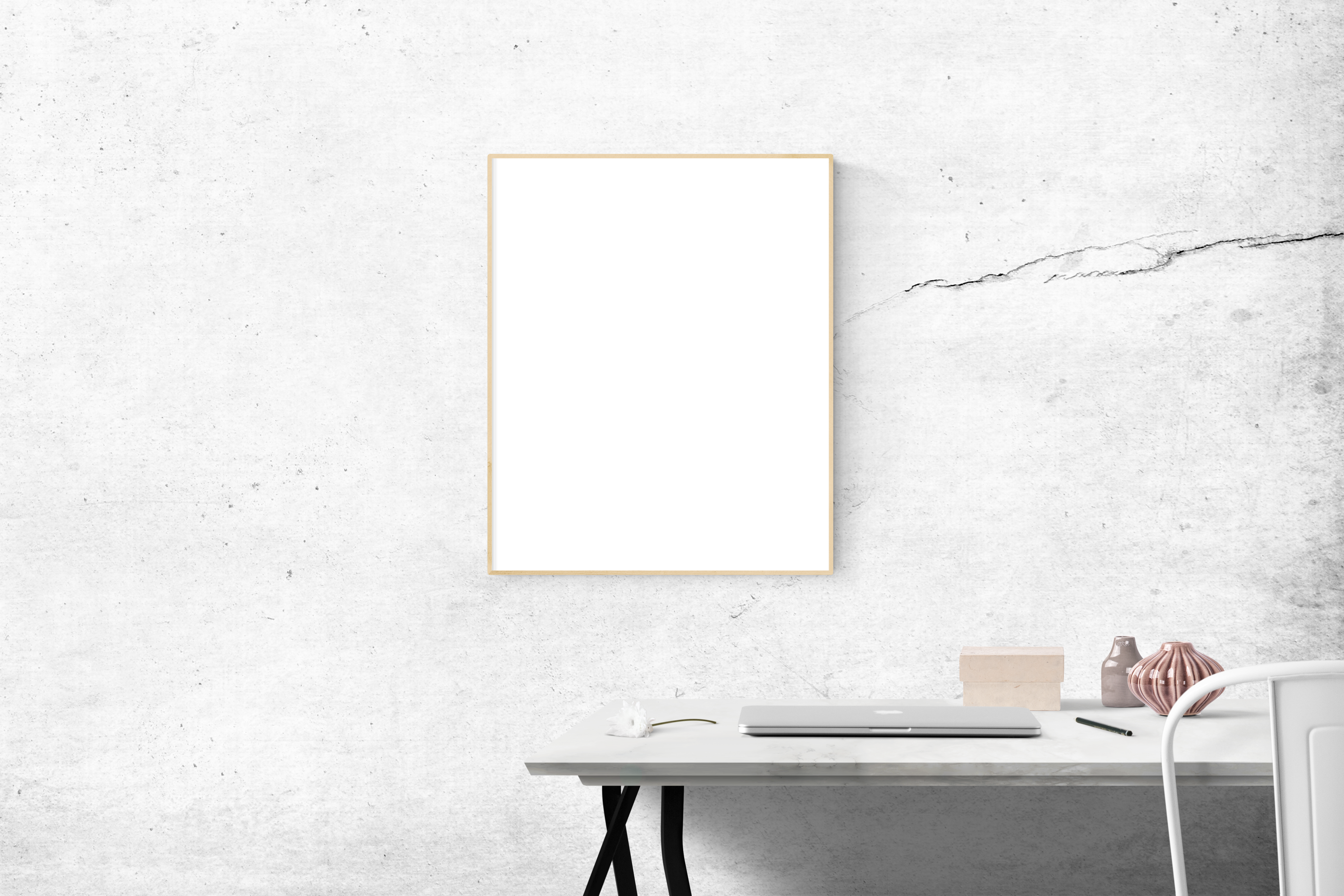 blank frame above table free stock photo - White Wall Frames