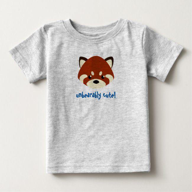 Cute Red Panda Baby T-Shirt #red #panda #kawaii #cute #adorable #BabyTShirt