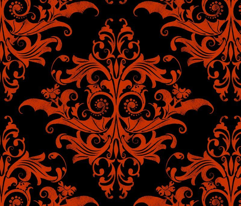 Halloween Fabric Wallpaper Gift Wrap Spoonflower Lace Wallpaper Damask Halloween Fabric